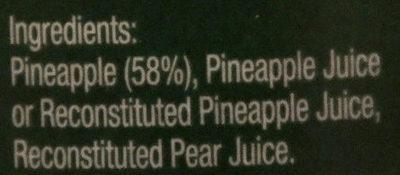 Golden Circle Australian Pineapple Slices in Juice - Ingredients