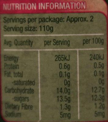 Golden Circle Australian Pineapple Slices in Juice - Nutrition facts - en