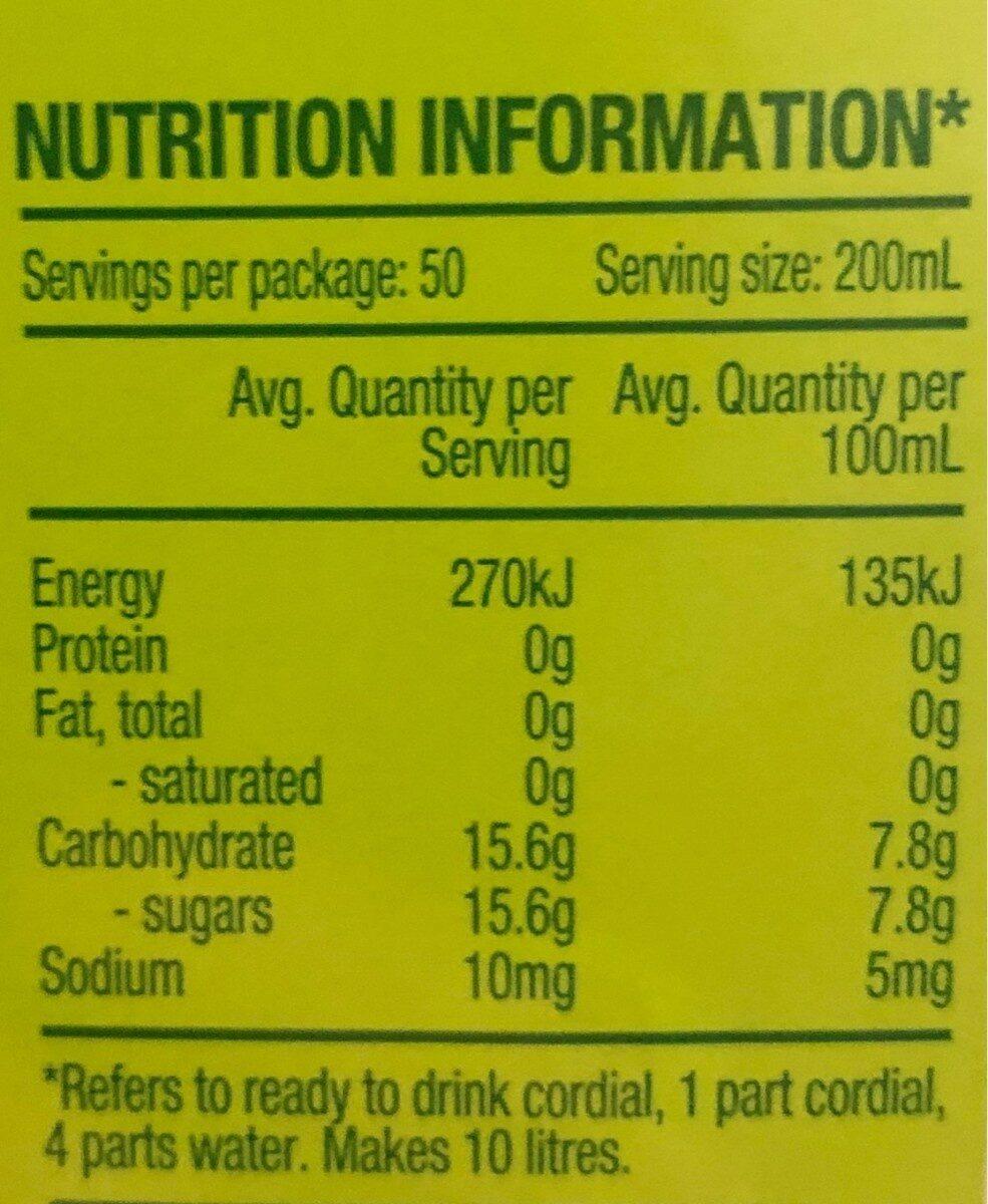 Morning Fresh - Nutrition facts - en