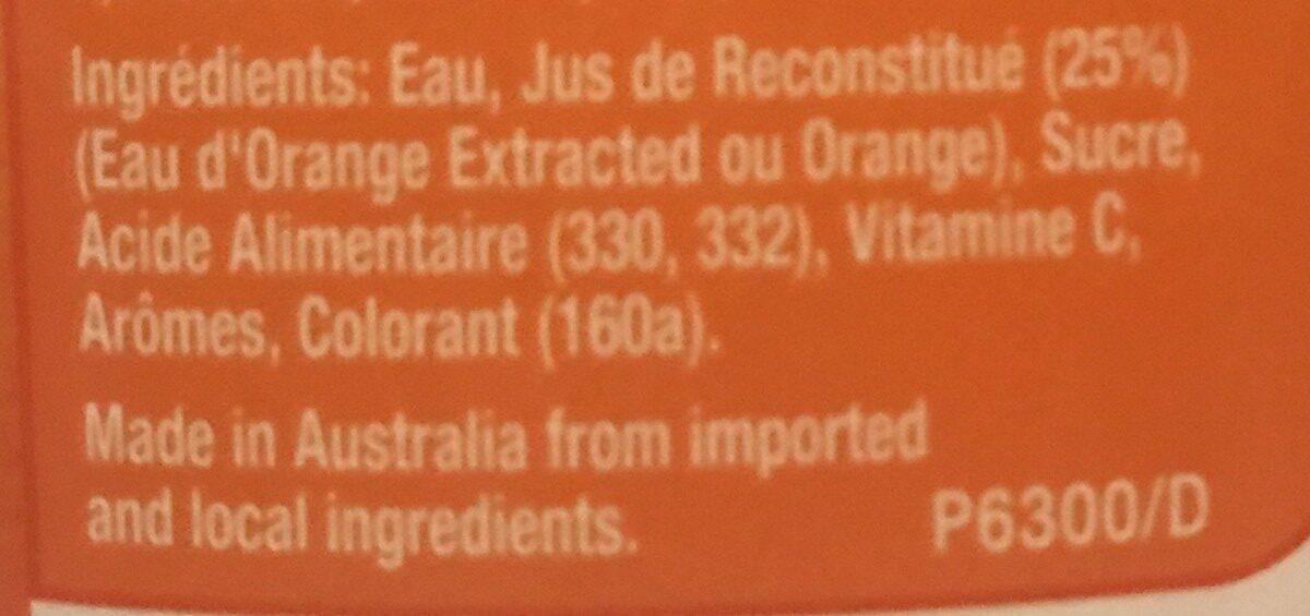 Orange Juice - Ingredients - fr