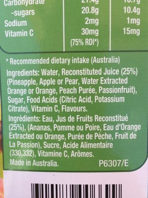 Tropical punch - Ingredients - fr