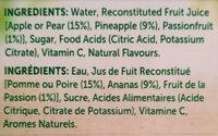 Golden Circle Golden Pash Fruit Drink - Ingredients - en
