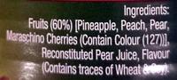 Fruit Salad Chunky in Juice - Ingredients