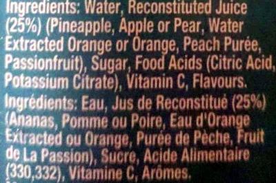 Sunshine Punch Fruit Drink with Vitamin C - Ingredients - en