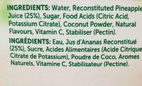 Golden Circle Pine Coconut - 1L - Ingrédients
