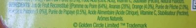 Tropical Juice - Ingredients