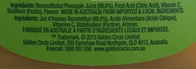 Unsweetened Pineapple Juice - Ingredients - fr