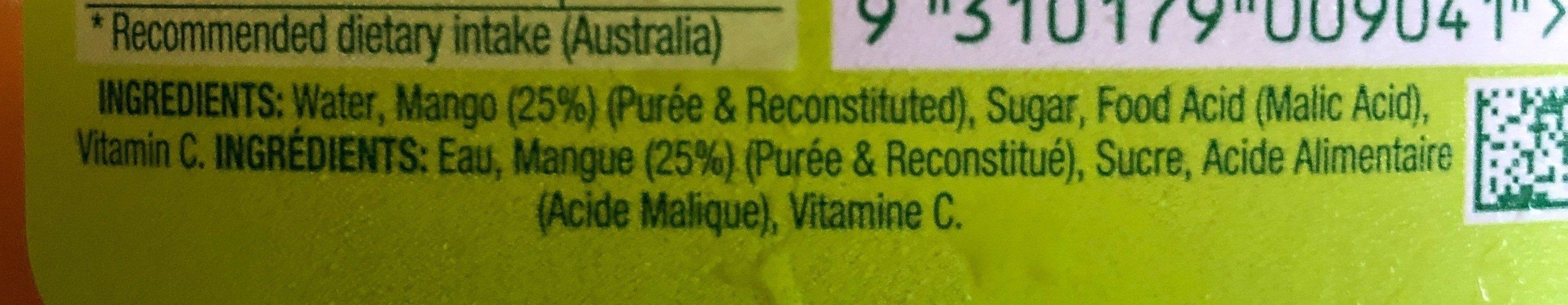 Mango Nectar - Ingredients - en