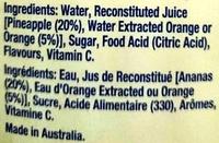 Delicisous pine orange - Ingredients - en