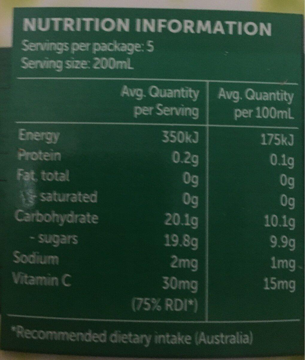 Delicisous pine orange - Nutrition facts - en