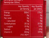 Golden Circle DRK Apple - Nutrition facts - fr