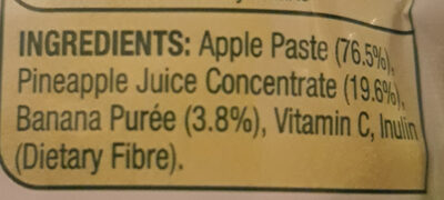 Tropical Smash - Apple, Pineapple & Banana - Ingredients - en