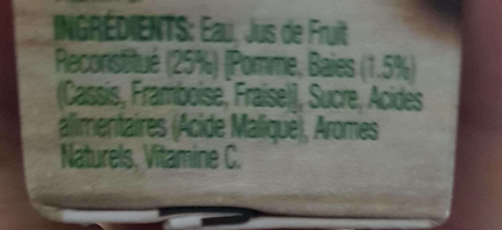 Golden Circle Summer Berries - Ingredients - fr