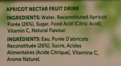 Apricot Nectar - Ingredienti - en
