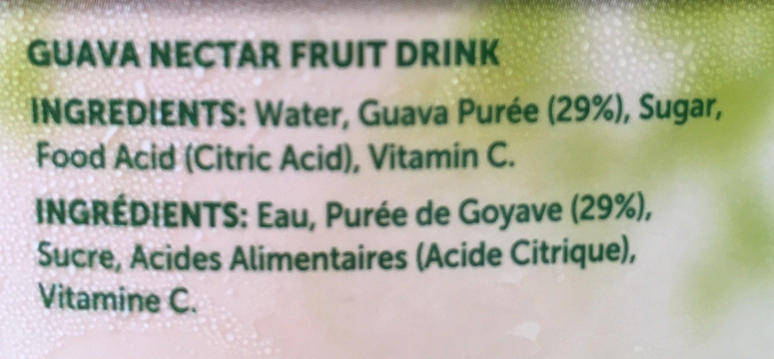 1L GC Guava Nectar - Ingredients - fr
