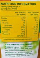 G / Circ Nectar Banana Mango - Ingredients - fr