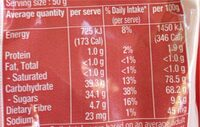 Pitted Dates - Nutrition facts - en