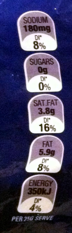 Vintage Light Cheddar - Nutrition facts - en