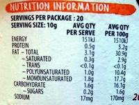 Hommus with Egyptian Spiced Dukkah Blend Dip - Nutrition facts - en