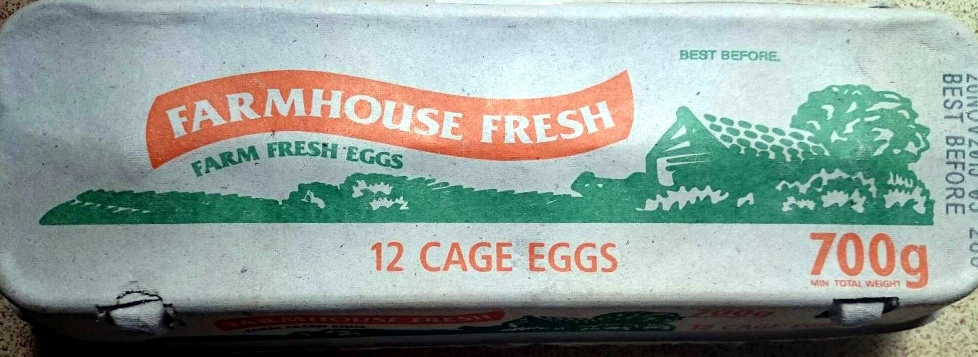 Farm Fresh Eggs Cage Eggs - Product - en