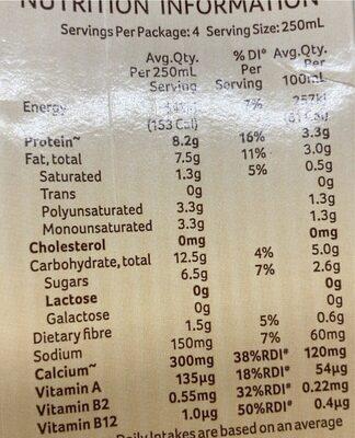 Original - Australian Grown Whole Organic Soybeans - Nutrition facts - en