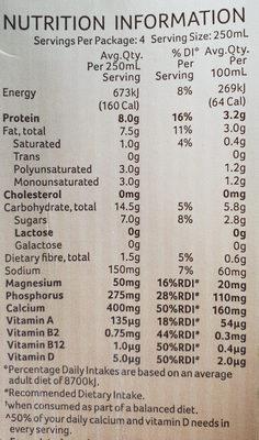 Calci-Plus Australian grown whole organic soybeans - Nutrition facts - en