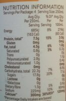 Chocolate Soy Milk - Informations nutritionnelles - en