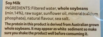 Soy Milky Regular - Ingrédients