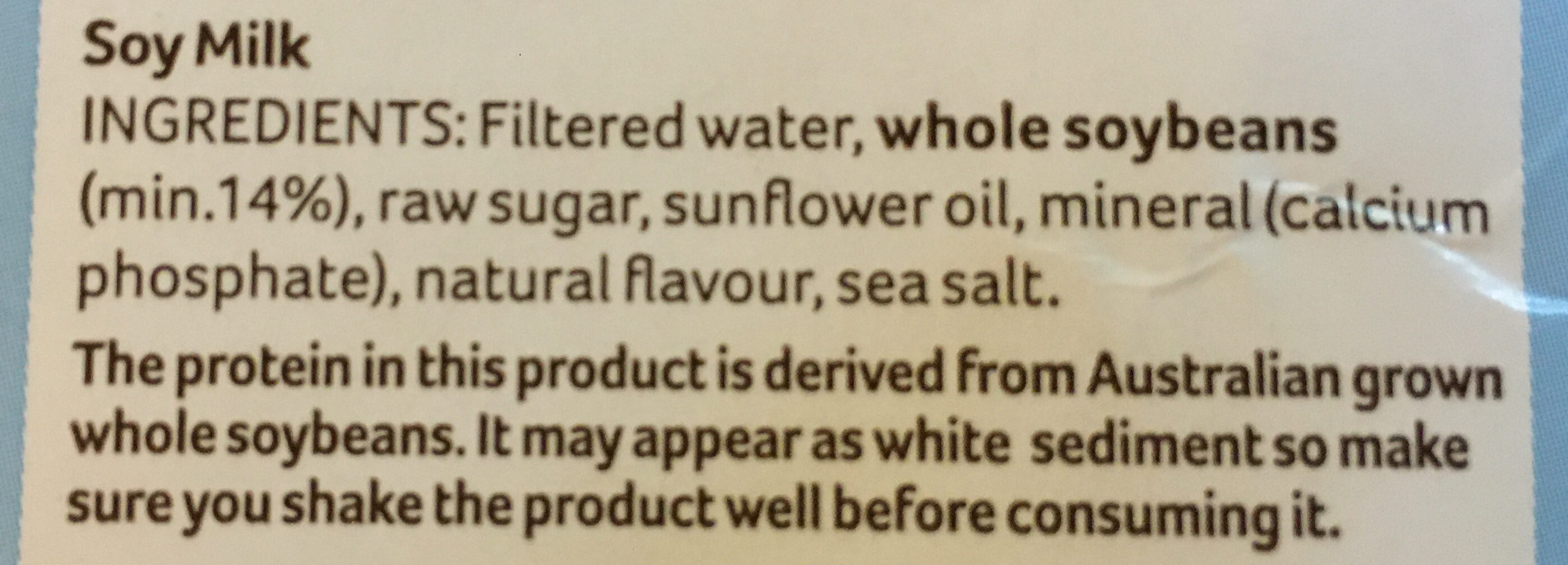 Soy Milky Regular - Ingredients - en