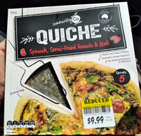 Quiche - Spinach, Semi Dried Tomato & Leek - Product - en