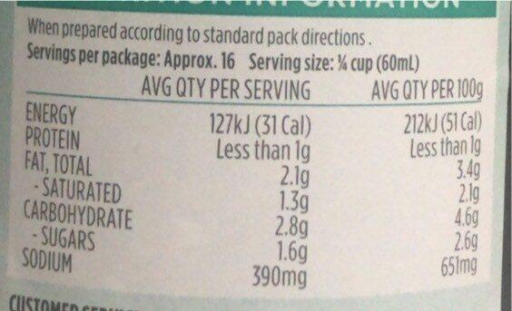 Gravy Granules for roast meat - Nutrition facts - en