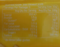 Peckish Thins Rice Cracker Cheddar Cheese 100g Gluten Free - Nutrition facts - en