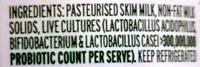 Pot Set Fat Free Natural Yoghourt - Ingredients - en