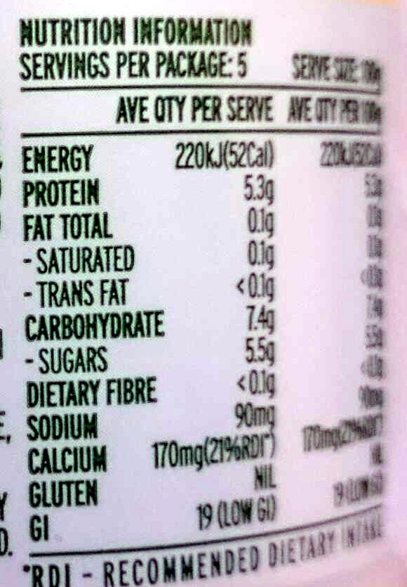 Pot Set Fat Free Natural Yoghourt - Nutrition facts - en