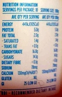 Low Fat Vanilla Creamy Yoghurt - Nutrition facts