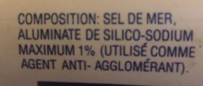 Sel - Ingredients - fr