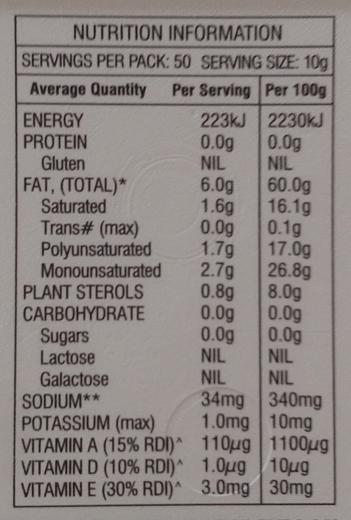 Pulse Buttery Margarine - Nutrition facts - en