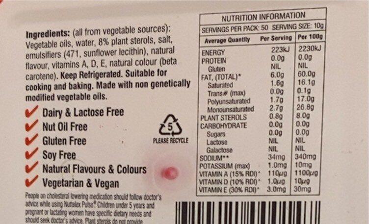 Nuttelex Pulse - Nutrition facts - en