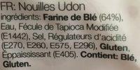 Udon noodles - Ingrédients - fr
