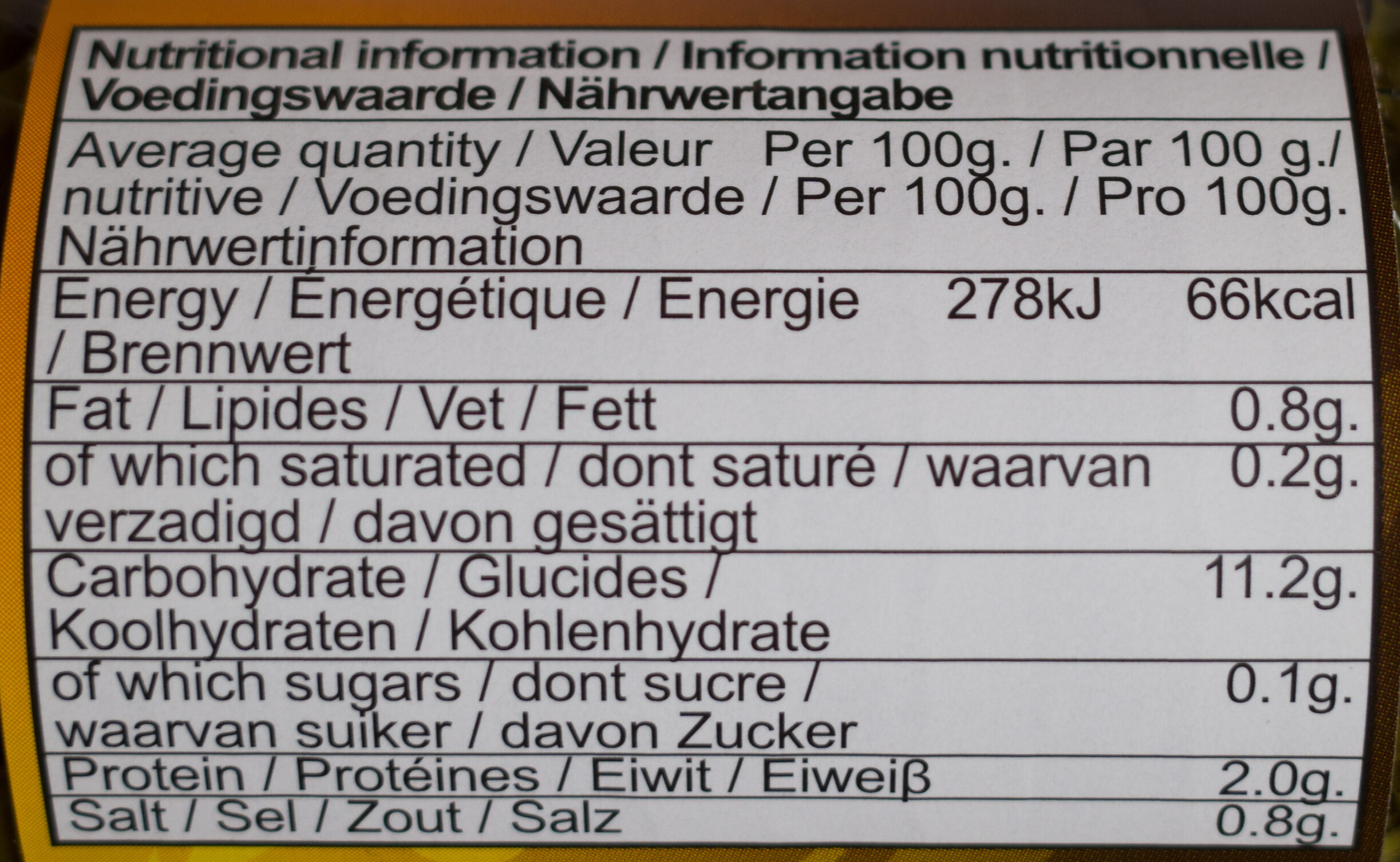 Kaffir lime leaves - Nutrition facts - en
