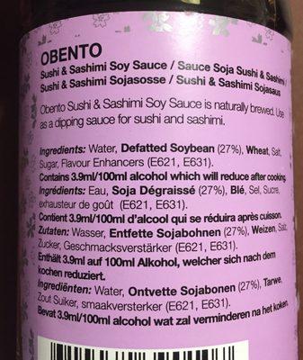 Soya Sauce For Sushi and Sashimi - Ingrediënten