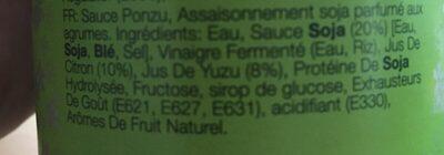 Sauce Ponzu - Ingrédients