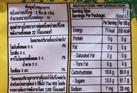 Sour patch mixed fruit - Valori nutrizionali - en