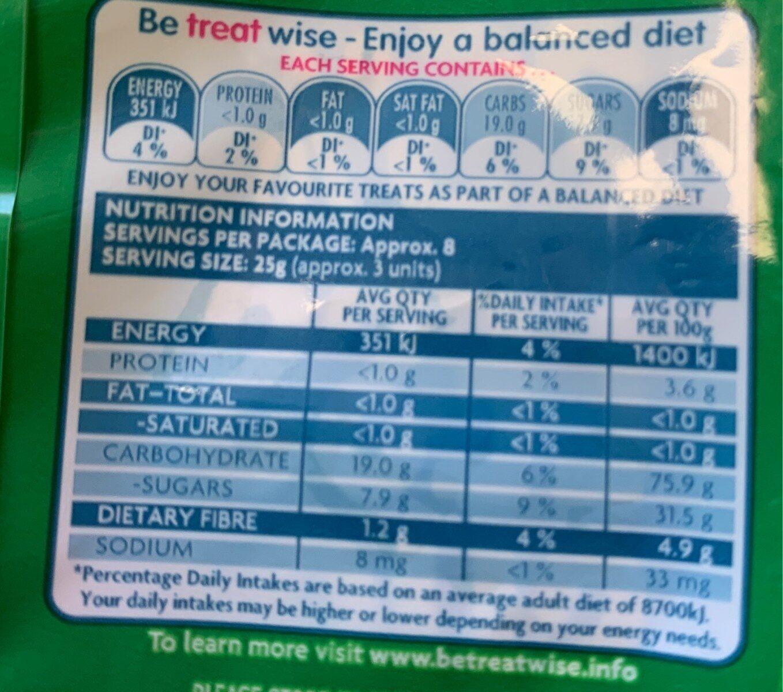 Fruit basket - Nutrition facts - en