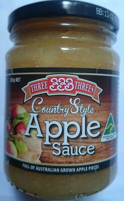 Three Threes Country Style Apple Sauce - Product