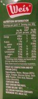Weis mango & ice cream bar - Nutrition facts - en
