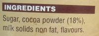 Vittoria Original Chocochino Drinking Chocolate - Ingredients