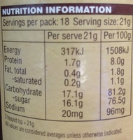 Vittoria Original Chocochino Drinking Chocolate - Nutrition facts