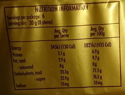 Biscotti - Nutrition facts - en