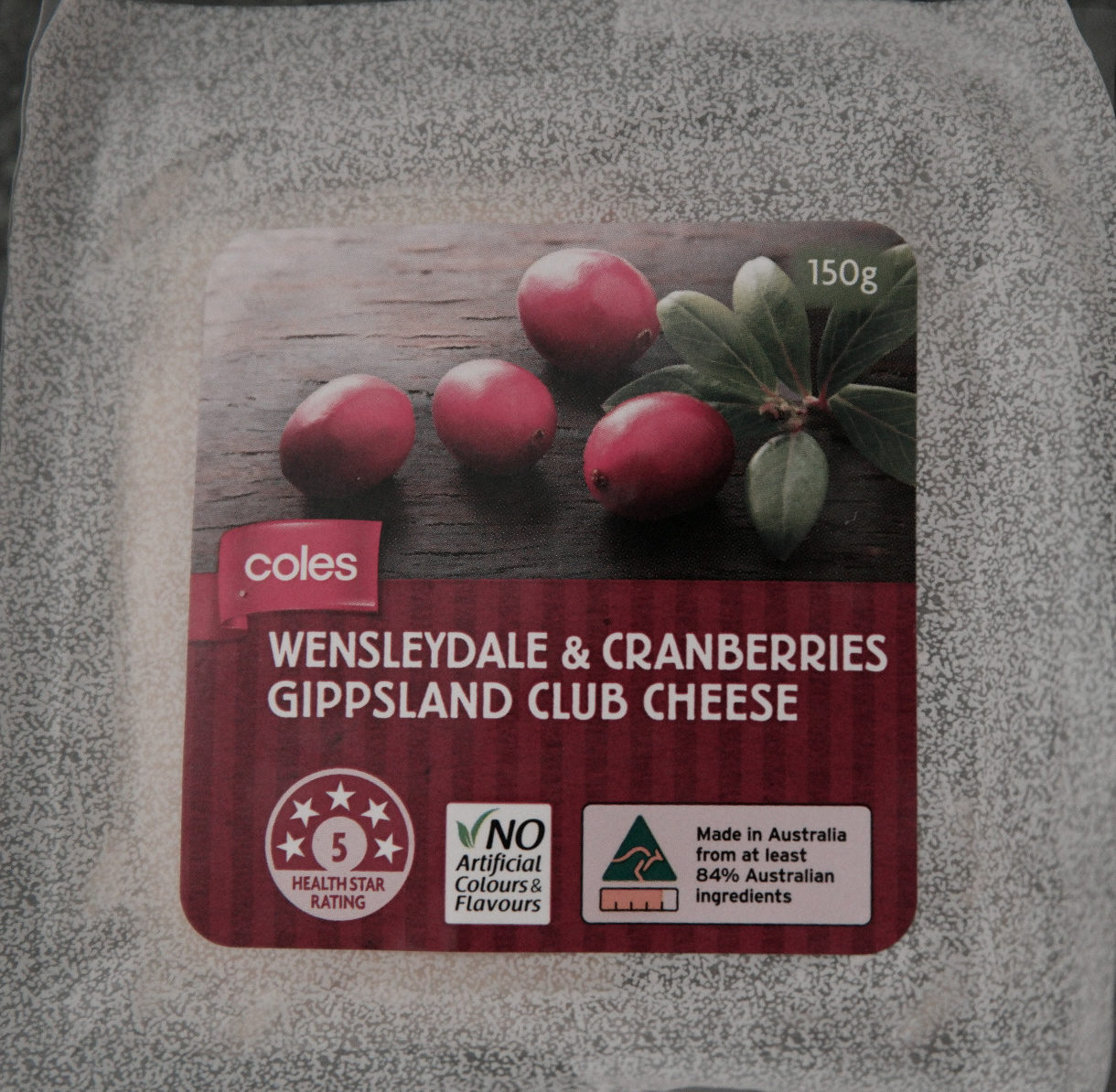 Wensleydale & Cranberries Gippsland Club Cheese - Product - en